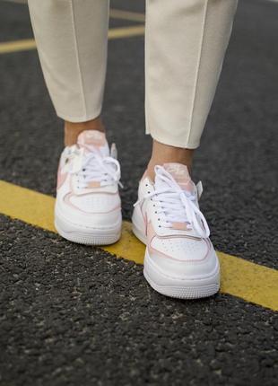 Nike air force shadow orange кроссовки найк женские форсы аир форс кеды3 фото
