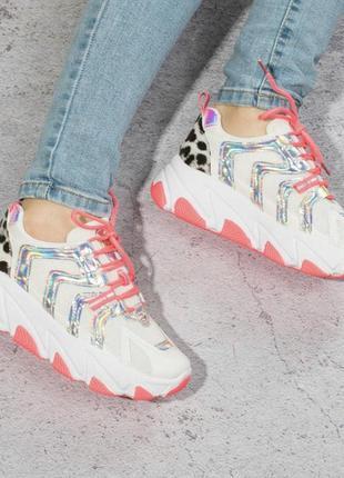 Красивые женские кроссовки / розовые / 36-41р2 фото
