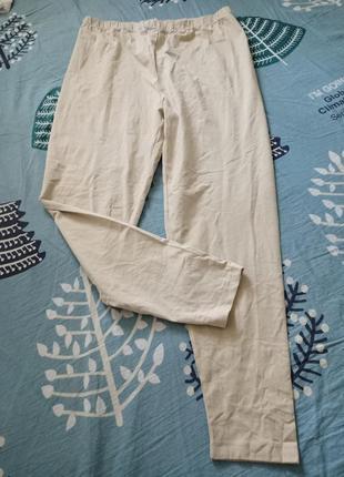 Светло-бежевые хлопковые штаны