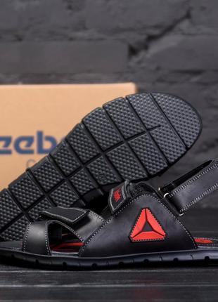 Мужские кожаные сандалии  reebok ns red