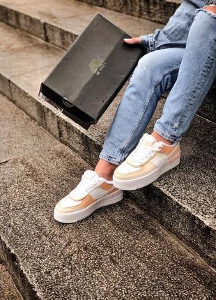 Nike air force shadow white grey brown кроссовки найк женские форсы аир форс кеды обувь взуття6 фото