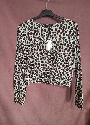 Леопардовая блуза, топ jennyfer