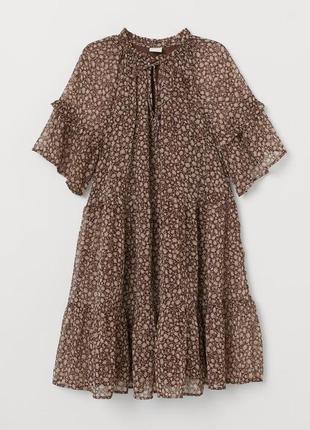 Платье из шифона цветочный принт h&m