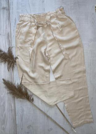 Лёгкие брюки с высокой талией zara