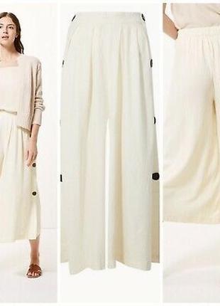 Красивые.  льняные брюки кюлоты m&s