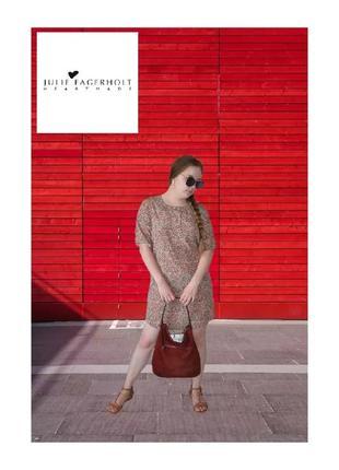 Шелковое дизайнерское платье сукня рубашка julie fagerholt р.46