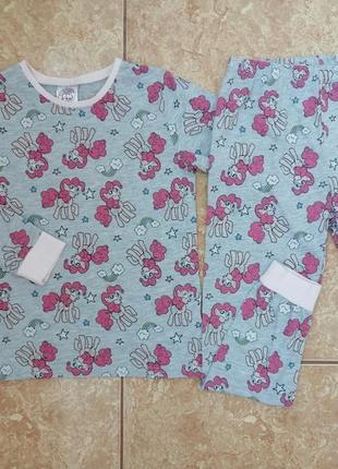 Стильный домашний комплект красивая пижама хб пижамка пони
