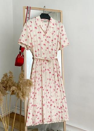 Платье миди винтаж в цветочный принт eastex