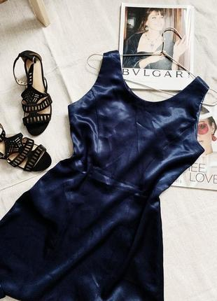 Темно-синее платье мини
