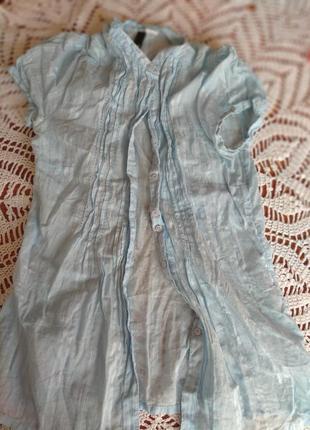 Блузка нежно голубого цвета