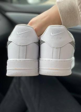 Nike air force 1 low reflective logo кроссовки найк женские аир форс кеды рефлективные7 фото