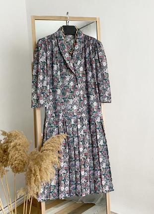 Платье миди винтаж плиссе