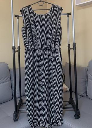Длинное платье шифоновое зебра