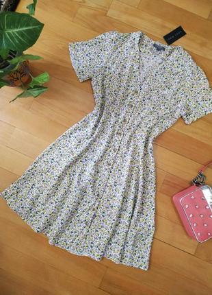 Новое милое платье в цветочек new look