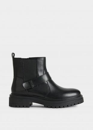 Кожаные черные женские черевики geox/ модні чорні жіночі ботинки geox