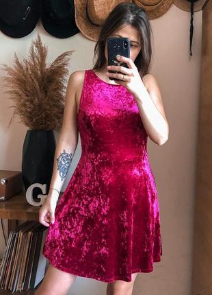 Бархатна сукня , платье бархатное