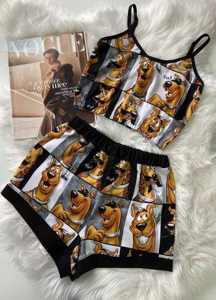 Пижама топ и шорты трикотажные