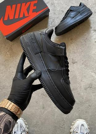 Nike air force shadow black кроссовки найк женские форсы аир форс кеды