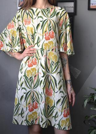 Очень красивое платье в цветы большой размер батал plus size next