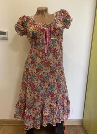 Милое летнее платье сарафан new look тоненькое