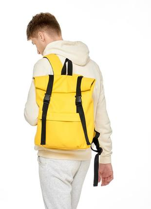 Мужской желтый roll top для города, мега вместительный