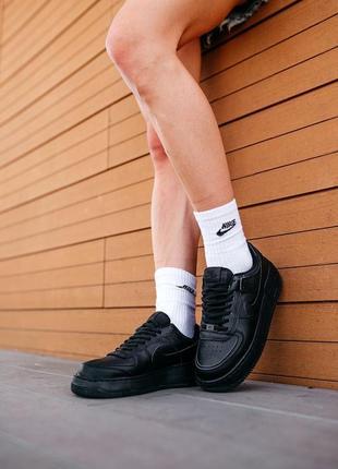 Nike air force shadow black женские кроссовки найк обувь кеды