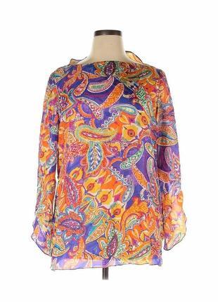Блуза туника из натурального шелка ralph lauren