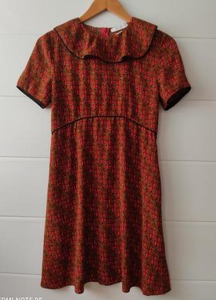 Вискозное платье, р.   xs , xxs польша