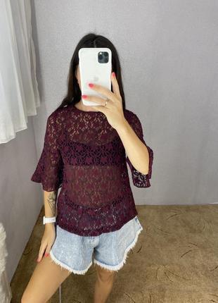 Блуза блузка кружевная