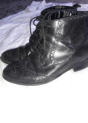 Ботинки кожаные челси 36-37  размер