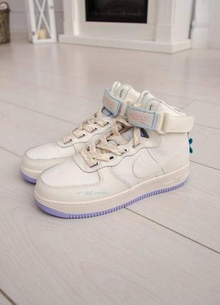 Nike air force utility high violet кроссовки найк женские форсы аир форс кеды высокие6 фото