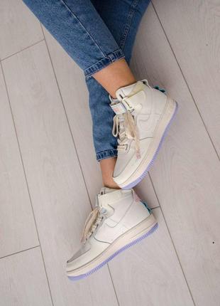 Nike air force utility high violet кроссовки найк женские форсы аир форс кеды высокие8 фото