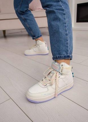 Nike air force utility high violet кроссовки найк женские форсы аир форс кеды высокие2 фото