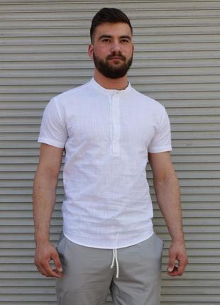 Рубашка сорочка лен льон