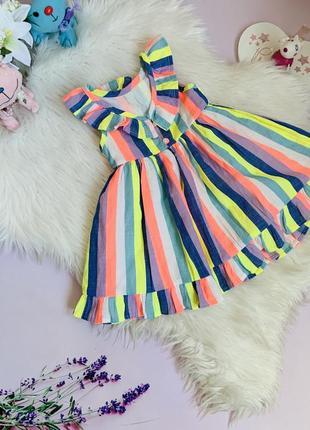 Красивое нарядное платье next малышке 2-3 года