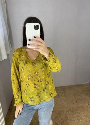 Блуза блузка в цветочный принт