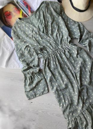 Стильное платье макси с оборкой вискоза