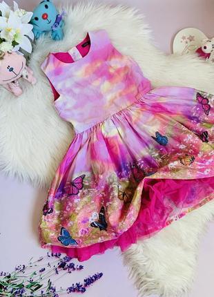 Красивое нарядное платье m&s малышке 5-6 лет