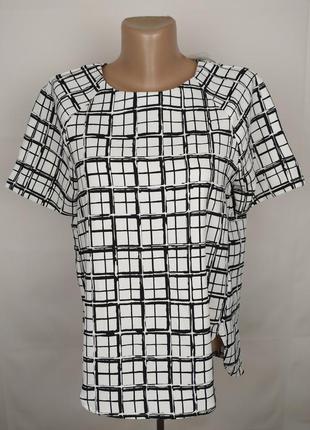 Блуза стильная в геометрический принт h&m uk 10/38/s