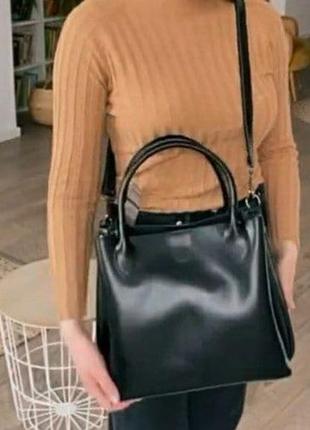 Женская кожаная сумка из натуральной кожи жіноча шкіряна на плечо4 фото