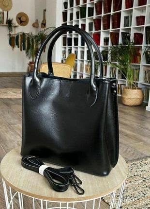 Женская кожаная сумка из натуральной кожи жіноча шкіряна на плечо2 фото