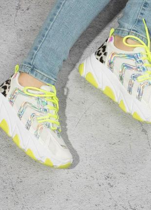 Салатовый женские кроссовки / массивные / 36-41р2 фото