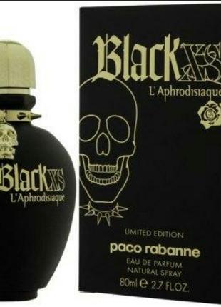 Женская парфюмированная вода paco rabanne black xs l'aphrodisiaque 80 мл