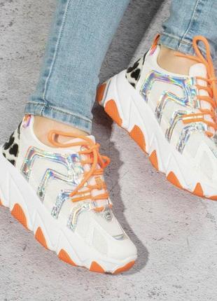 Оранжевые женские кроссовки / 36-41р2 фото