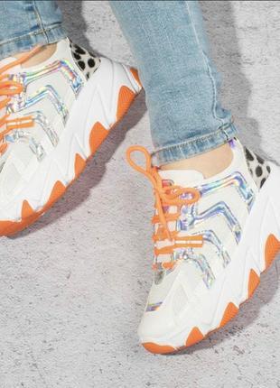 Оранжевые женские кроссовки / 36-41р3 фото