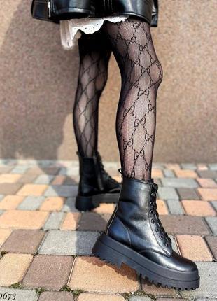 Сапоги ботинки натуральная кожа черный5 фото