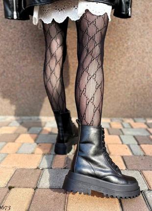 Сапоги ботинки натуральная кожа черный4 фото