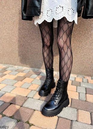 Сапоги ботинки натуральная кожа черный8 фото