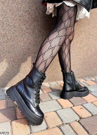 Сапоги ботинки натуральная кожа черный3 фото