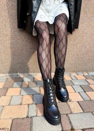 Сапоги ботинки натуральная кожа черный7 фото